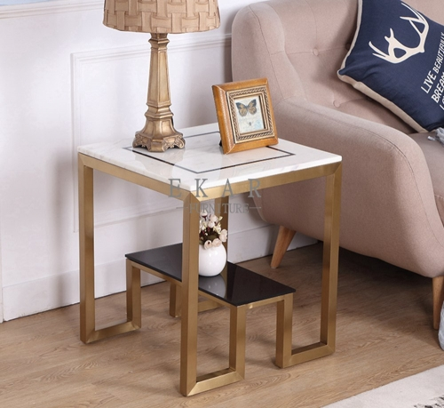 Corner Living Room End Cube Coffee Table