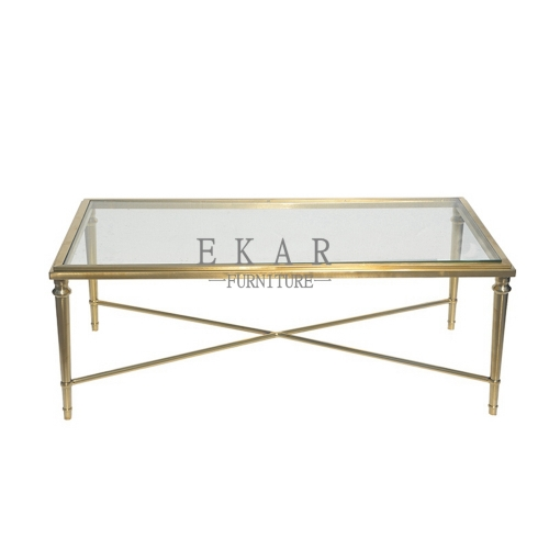 Big Glass Square Coffee Table Set