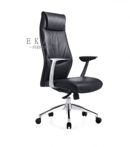 Comfy Black Leather Rotating Executive Chair Office Chair