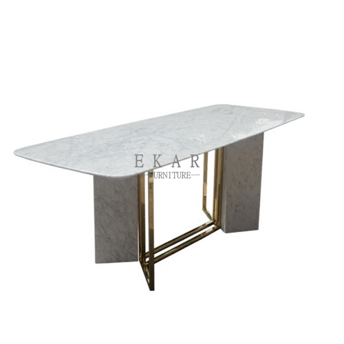 Modern Small Room Marble Dining Table