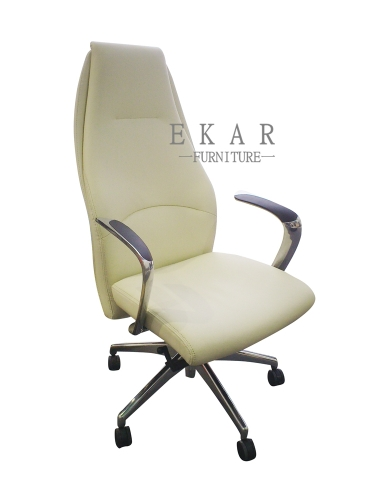 Recliner Cream High Back CEO Office Lift Chair