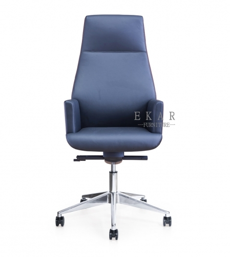 Germany Replica Furniture Real Blue Leather Recaro Office Chair