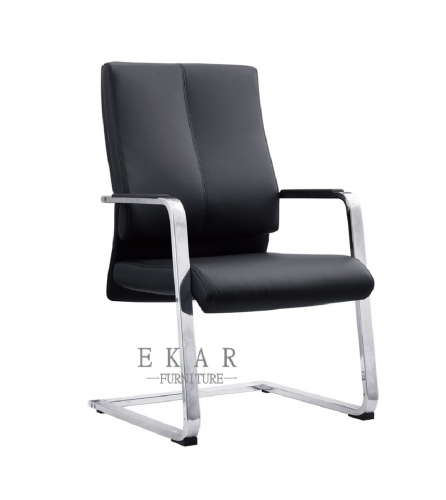 Fancy German Aluminum Alloy Black Office Guest Chair