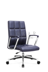 Lattice Back Design Arm Office Chair Wheel Base