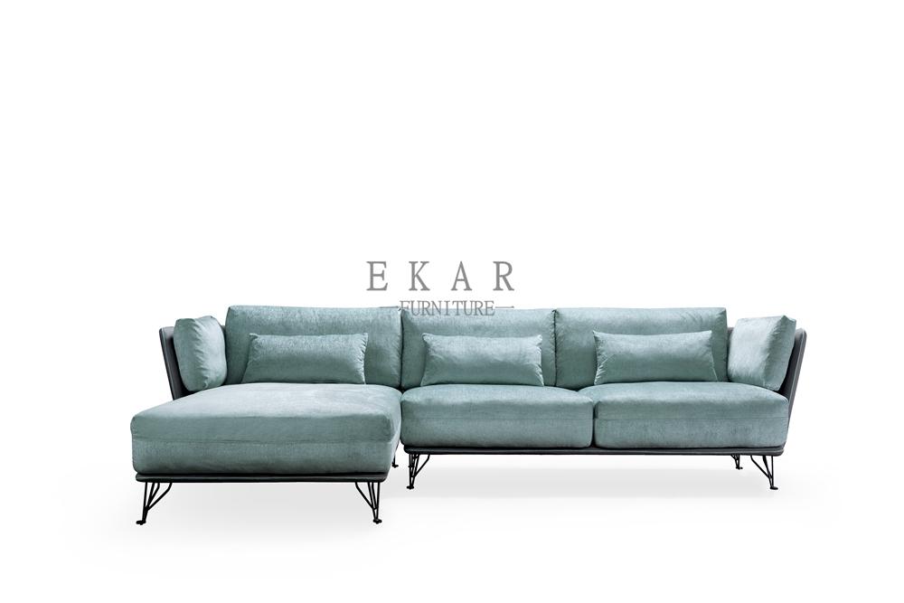 Living Room Furniture Comfy Couch Sale Light Blue Fabric Sofa Ekar Furniture