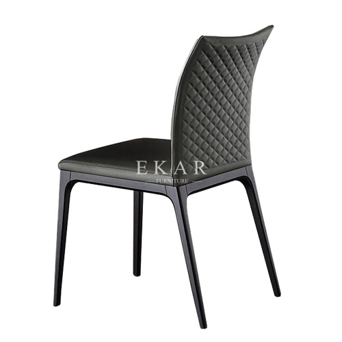 Comfortable Black Oak Wood And Upholstered Dining Chair