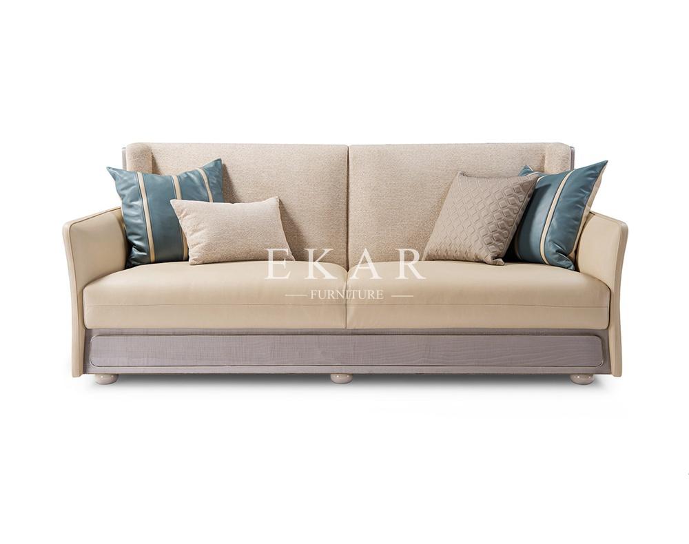 - 7 Seater European Style Leather Sofa Set - Ekar Furniture