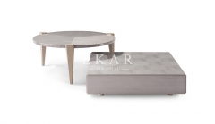 Gray Storage Rectangle Wood Living Room Coffee Table