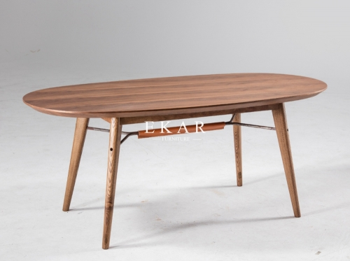 Oval Wood top Simple Modern Dining Table