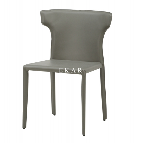 Modern Metal Frame Leather Fashion Dining Chair