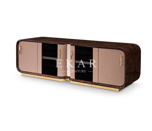 Modern High Gloss Veneer Showcase Fashion Tv Stand