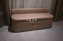 Pink Leather Bedroom Ottoman Bed End Stool Bench