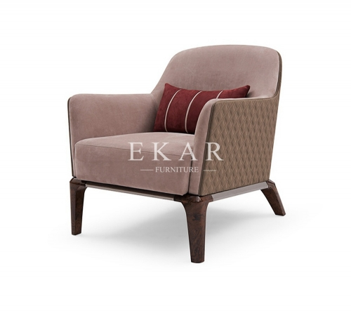 High End Leather Or Fabric Upholstery Leisure Arm Chair