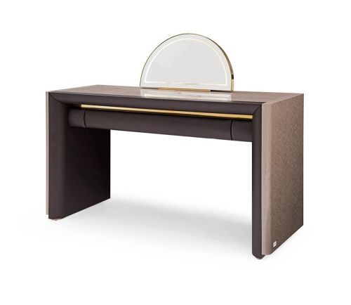 New Modern Design Luxury Dressing Table With Half Moon Mirror