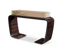 High Gloss Veneer Classic Console Table
