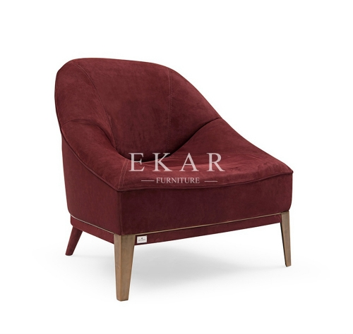 Modern Deluxe Dark Red Leisure Chair