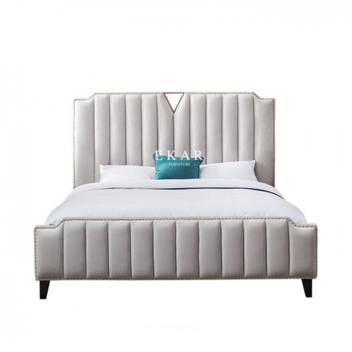 Modern Bedroom Furniture Upholstered HIgh Class Leather King Size Bed