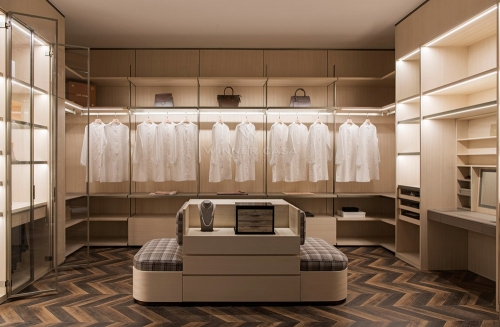 Italian Style Luxury Customized Modern Walk In Closet Cloakroom