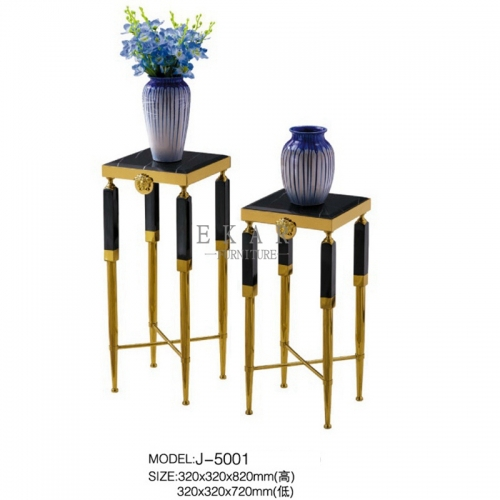 Latest Stainless Steel Sofa Side Gold Flower Stand