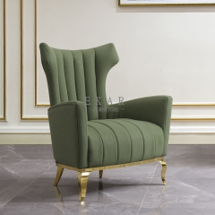 Upholstered Armchair Fabric Living Room Leisure Chair