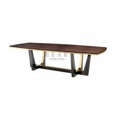 Modern High End Solid Wood Leg Rectangle Dining Table