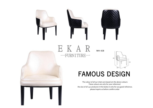 Wood Leg Design Modern Fabric Or Leather Dining Chair