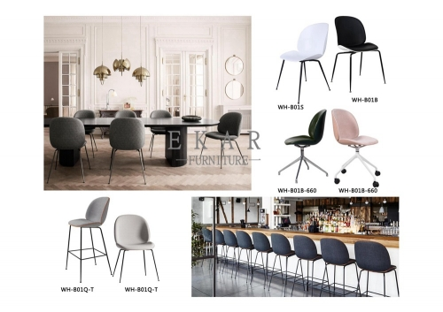Modern Restaurant Hotel Nordic Armless  Chair