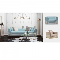 Latest Design Leather Contemporary Fabric Upholstered Sofa