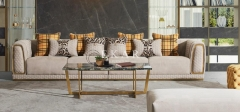 Contemporary Living Room Nordic Design Modern Fabric Sofa