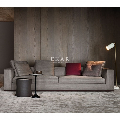 Modern Living Room Fabric Wooden Frame Comfortable Sofa For Lobby