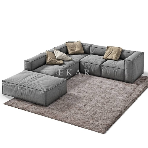 Modern Corner U Shaped Upholstered Sofas Sectional Sofa