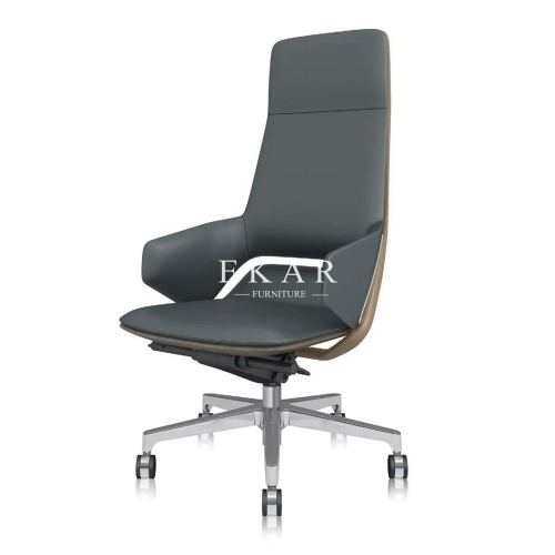 Pu Leather Swivel Chairs Foshan High Back Executive Office Chair