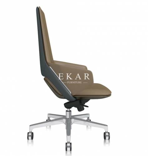 Modern Upholstery Artificial Leather Office Chair With Wheels