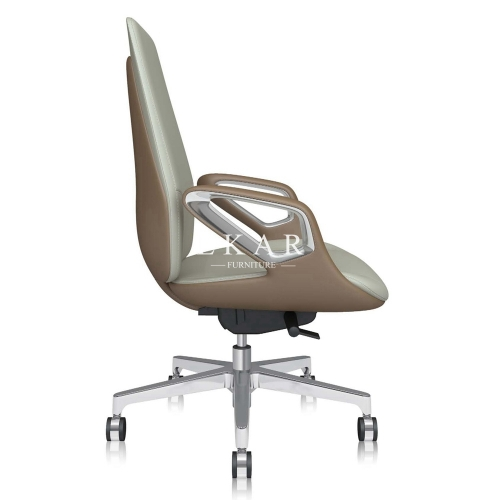 Fashionable And Simple Upholstery Mid Back 360 Degrees Swivel Office Chair