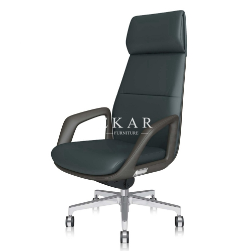 Foshan Modern High Back Executive Chairs Genuine Leather Office Chair