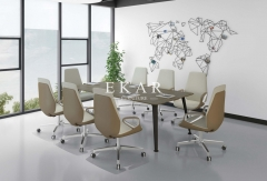 Modern Office Meeting Room Pu Leather Conference Arm Chair