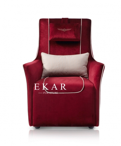 Modern Leather or Velvet High Back upholstered Arm Chair