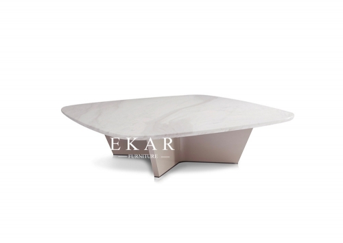 Modern Square Design Marble Coffee Table