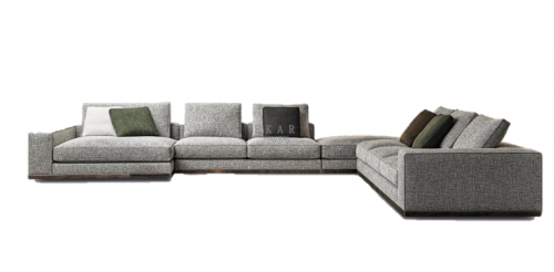 Preforming metal covered with hard-leather backrest sofa