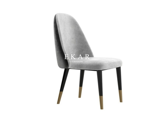 High Back Upholstered Modern Dining Chair