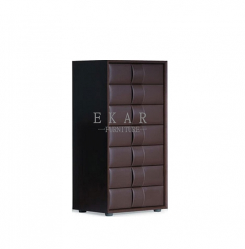 Structure made of MDF cover with leather Cabinet