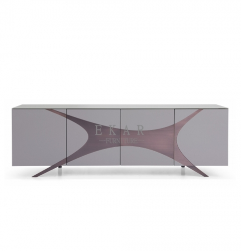 Matel feet in pure copper brushed treatment sideboard