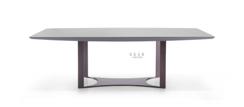 MDF in grey lacquer with 5mm tempered glass dining table