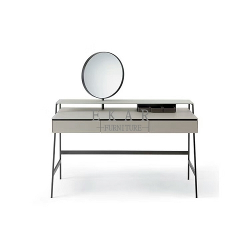 MDF lacquer in matte grey dressing table