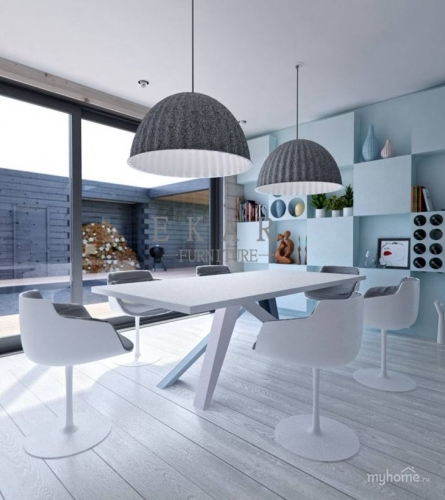 Modern Fashion Blue Tones Interior Design Furniture Villa Project
