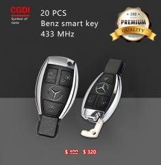 Benz smart key 433MHz 3 Button 20PCS