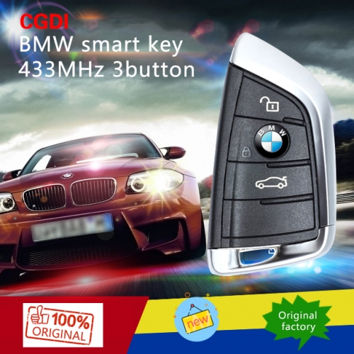 Original ein BMW Smart Key 433MHz FEM 3 Taste Schwarz