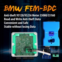BMW FEM/BDC 95128/95256 Chip Anti-theft Data Reading Adapter 8Pin Adapter No Need Disassembling Work with CG Pro 9S12