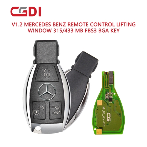 Benz Smart Key 433 MHZ 3-Knopf mit 2 Batterien