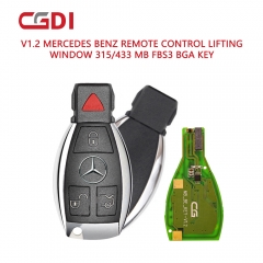 Benz smart key with red dots panic 315MHz And 433MHz can change frequency automatically.